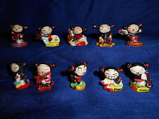 Pucca Punk Love Rock Band Set 10 Mini Figurines French Porcelain Feves Musicians