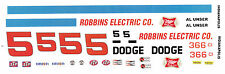 #5 Al Unser 1969 Dodge 1/24th - 1/25th Scale Waterslide Decals