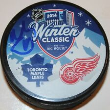 Niklas Kronwall signed Red Wings Maple Leafs Winter Classic Puck COA