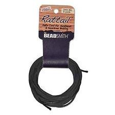 BeadSmith 2mm Black Satin 6 Yds. Rattail Braiding Cord Macramé Kumihimo Jewelry