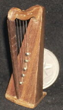 Dollhouse Miniature Mexican Wooden Harp 1:12 Music Musical Instrument #WI-1702