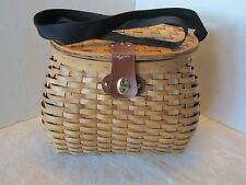 Basket Rattan Basket Woven Fishing Hunting Berry Creel style shoulder strap