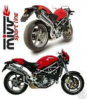 "exhaust TERMINALI MIVV ""X-CONE""  MONSTER S4R S2R"
