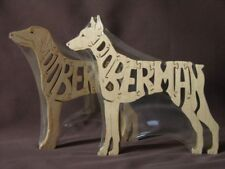 Doberman Dog Wooden Puzzle Amish  Scroll Saw Toy  NEW