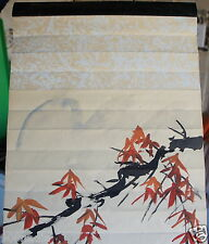 VINTAGE JAPANESE/CHINESE SCROLL WOMAN W/GUQIN WATERCOLOR OR PRINT ON PAPER