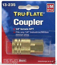 "1/4""NPT F ""I/M"" Air Line Quick Coupler Tru-Flate 13235 Coupling"