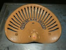 DENING & CO CHARD  VINTAGE CAST IRON TRACTOR IMPLEMENT SEAT COLLECTIBLES