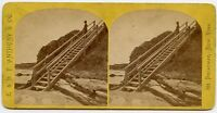 Forty Steps , Newport Rhode Island Stereoview Photo by Anthony , New York