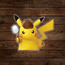 Detective Pikachu [on clear] (Pokemon) Decal/Sticker