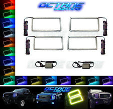 2007-2013 GMC Sierra Truck Multi-Color Changing LED RGB Headlight Halo Ring Set