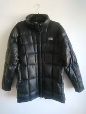 Ladies The North Face 600 Goose Down Black Long Puffer Jacket Size XL Approx 16