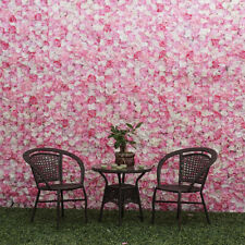 2 xRomantic Artificial Flower Wall Panel Wedding Venue Floral Decor Hot Pink