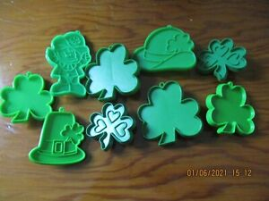 Vintage St Patrick's Day Hallmark Cookie Cutters lot of 9