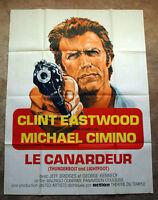 Vintage Original 1974 CLINT EASTWOOD - Jeff Bridges Movie Poster 1sh Film noir