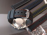 RUBBER THICK DIVE STRAP BAND FOR SEIKO CITIZEN + FREE SPRING BAR SET INCLUDED