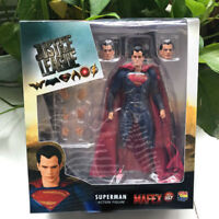 Mafex NO 057 Superman Justice League DC Comics Action Figure Medicom Toy Gift
