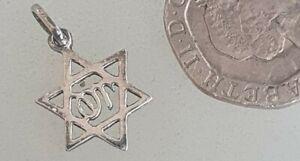 Small Silver Pendant Star of David Pendant SOLID SILVER MAGEN DAVID Jerusalem