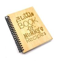 Personalised Recipe Book With Wooden Cover Engraved NB-3