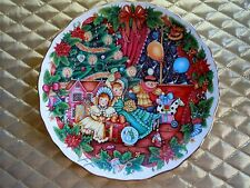 "1980's 1st Version Royal Albert ""Home For Christmas"" Plate Bone China Jane James"