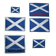 Scotland Flag Iron-On Sew On Applique Patch Badge Scottish Saint Andrew's Cross