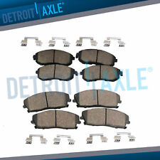 Front + Rear Ceramic Brake Pads Hardware for Escalade Avalanche Silverado Tahoe