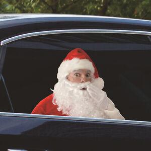 27*30cm Santa Claus Creative Automobile Sticker Car Window Glass Decal Accessory