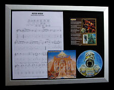 IRON MAIDEN Aces High GALLERY QUALITY CD LTD FRAMED DISPLAY+EXPRESS GLOBAL SHIP