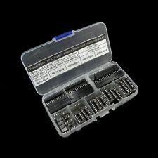 12value 56pcs DIP IC Sockets Adaptor Solder Type Assortment Box Kit