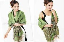 Fashion Pashmina Cashmere Womens Scarves Paisley Stole Shawl Wrap Scarf Green