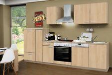 Küchenblock Classic mit Elektrogeräten 300 cm in Sonoma Eiche Nachbildung