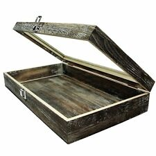 Large Wood Watch Box Glass Top Jewelry Ring Display Wooden Organizer Case New