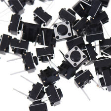 100pcs 2pins Tactile Push Button Switch Tact Switch 6X6X5mm Momentary FOFCA