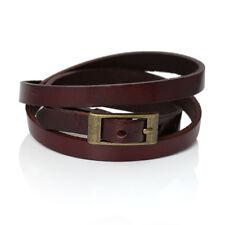 Leder Armband dunkelbraun Wickelarmband Uhrenarmband 61cm