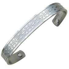 MENS STAINLESS STEEL STRONG MAGNETIC BRACELET FOR ARTHRITIS STRESS PAIN RELIEF