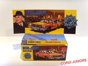 CORGI JUNIORS - KOJAK - BUICK REGAL - Display/ Reproduction box & tray ONLY.