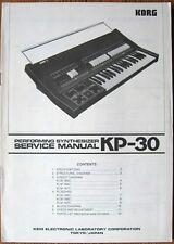 Korg Sigma KP-30 Synthesizer Original Service Manual Schematics, Parts, Diagrams
