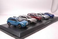 A set of limited Ⅱ edition Subaru car models in scale 1:43