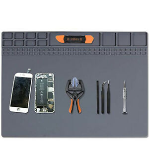 Anti Static Mat Heat Insulation Magnetic Silicone Pad Desk Solder Repair BG