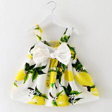 Summer Newborn Baby Girls Princess Party Dress Bowknot Party Tute Dress Clothes