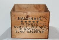 Vintage Haig & Haig Scotch Whiskey Empty Wood Crate Box Carrier 12 Bottles #2