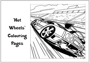 HOT WHEELS Colouring Pages - 20 Sheets - Perfect for Rainy Days & Holidays!