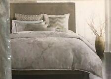 Hotel Collection INTERLATTICE Silver FULL/QUEEN Duvet Comforter Cover MSRP $335