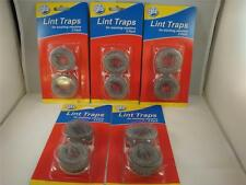 10 Lot Washing Machine Lint Traps Snare Filter Screens Aluminum Mesh W/ Clamps