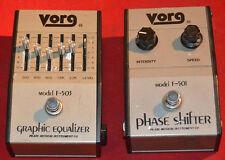vintage pearl original vorg phase shifter f-501 + equalizer f-503 collector lot