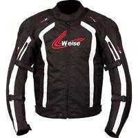 Weise Corsa Negro, Blanco Impermeable de Motocicleta Chaqueta Con