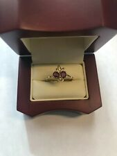 14kt Yellow Gold Ruby (2) & Diamond Ring Size 7 Brand New