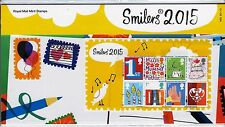 2015 Smilers Mini Sheet Stamps in Presentation Pack no M23 8 x 1st  Class stamps