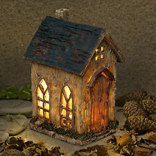 New Garden Glow - Solar Fairy House- Church Cottage-Home of Cornelius Wasp Witch