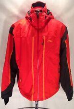 F746 KJUS Systems Jacket Red Orange Black Size XL Ski Snowboard
