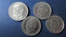 BRD 2 marcos alemanes Adenauer 1969 J, 2 x 1974 F y 1974j en vz-St J. 406 (rg285)